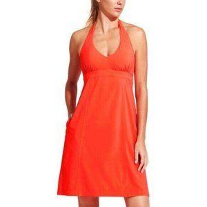 Athleta Small 4 Pack Everywhere Orange Halter Dres